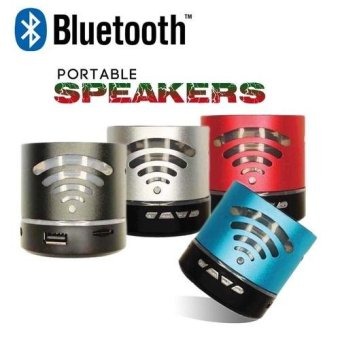 Harga Portable BT-4781 Bluetooth Speaker with LED Light (Silver)