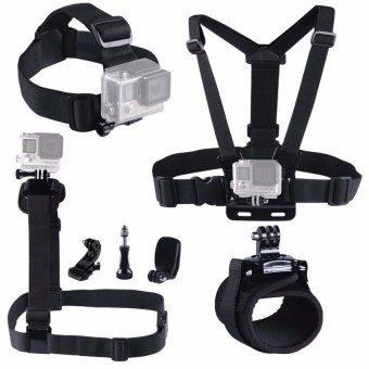Harga Gopro Accessories chest wrist head strap Belt case Go pro 3GoproHero 4 3 For Xiaomi yi Camera Accessories for skiing Jump(OVERSEAS) - intl