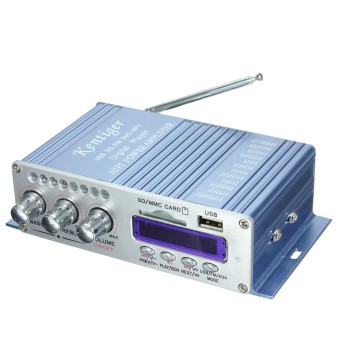 Harga Power Amplifier HiFi Stereo 2-CH AMP For Car Motorcycle MP3 FM Audio Music Mini - Intl