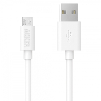 Harga Anker PowerLine 0.9m Micro USB PVC Sync Charging Cable for Smartphone and Tablet (White)