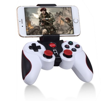 Harga Bluetooth Wireless Game Controller, Gamepad Joystick for IOS iPhone iPad , Android Smart Phone, Smart TV(White)