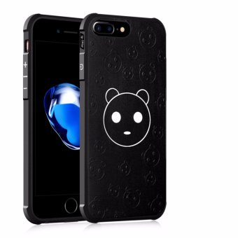 Harga COCOSE Phone Case For Apple iPhone 7 Plus Silicone TPU Back Cover Cartoon Bear Painting Shockproof Waterproof Dirt Resistant Phone Shell (Black) - intl