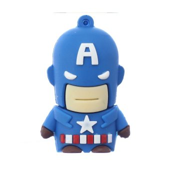 Harga WHD Captain America 4GB USB Flash Drive (Blue) - Intl
