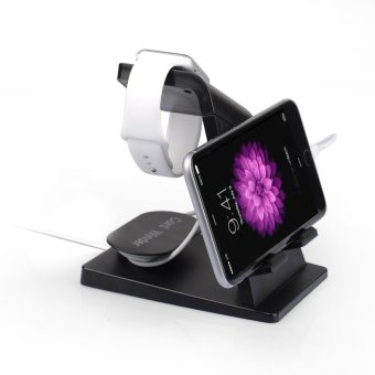 ITIAN A16 Charging Dock Station Stand Holder for Apple Watch iPhone - Black