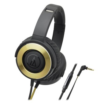 Harga Audio-Technica ATH-WS550is Solid Bass Over-The-Ear Headphones (Black Gold)
