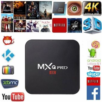 Harga MXQ Pro Android TV Box S905 4K Digital TV Streaming Box Quad Core Android 5.1 - intl