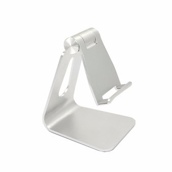 Harga Universal Aluminum Metal Mobile Phone Tablet Desk Holder Stand For iPhone For iphone/iPad Angle Adjustable Tablets Charger Stands - intl