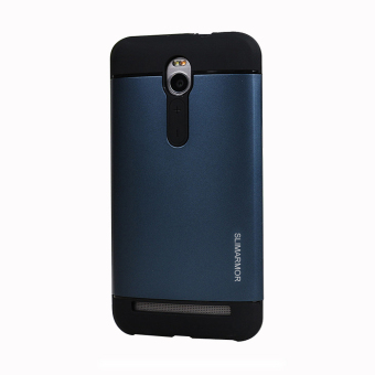 Harga AreMe Hybird Dual Layer TPU+PC Shockproof Slim Fit Case Armor Shock Absorption Combo Back Cover for Asus Zenfone 2 5.5 inch ZE550ML ZE551ML (Navy) (EXPORT)