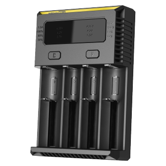 Harga Authentic NITECORE New I4 quad slots 18650 AA AAA Battery Charger