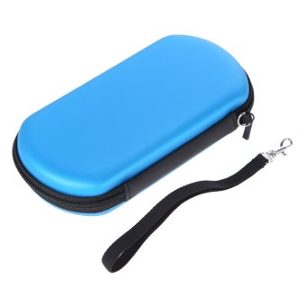 Harga Blue Hard Travel Pouch EVA Case Carrying Bag w/Strap for Sony PS Vita PSV