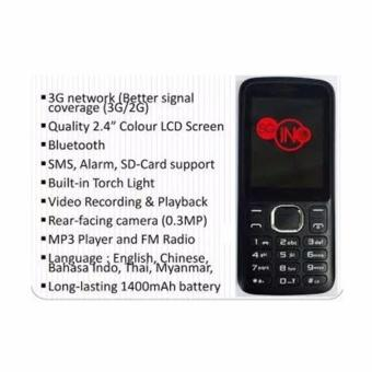 Harga SGiNO 3G Basic Phone (Local)(Black 1GB)