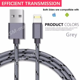 Harga 2 in 1 Smart Fast Charging New Data Cable Real Dual-Side For iPhone 7/5/5s/6/6s/Plus Samsung HTC Xiaomi Huawai Vivo Android Phone - intl