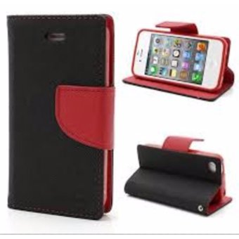 Harga Mercury Goospery Fancy Diary Case (Black / Red) for iPhone 6 / 6S
