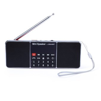 Harga L - 288AMBT Bluetooth Wireless Speaker Support AM Radio FM Radio Function (RED)