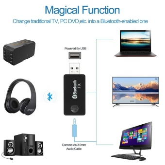 TX9 Wireless Bluetooth Transmitter Stereo Music Stream Transmitter Audio Adapter for TV DVD PC CD Player MP3/MP4 - intl