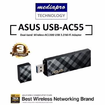 Harga ASUS USB-AC55 Dual-band Wireless-AC1300 USB 3.0 Wi-Fi Adapter