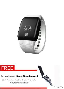 Harga A88+Wristband Smart Watch Heart Rate Monitor Bluetooth 4.0 Waterproof Bracelet For IOS And Android - intl