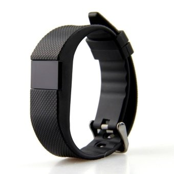 Harga Fitness Heart Rate Smart band Fitbit BraceletWristbandTrackerBluetooth 4.0 Watch for ios Android (Black) - intl
