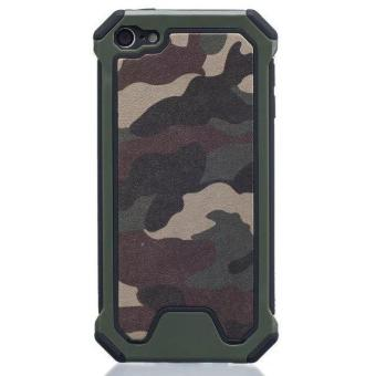 Harga Army Camouflage PC Frame & Silicone Back Case Cover for Apple iPod Touch5/Touch6 - intl