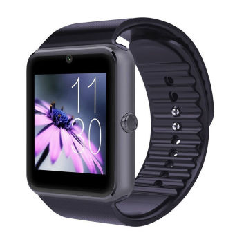 "Harga New 1.54"" GT08 Touch Screen Bluetooth Smart Wrist Watch Phone For Android IOS (Black) - intl"