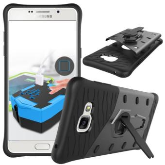 Harga Heavy Duty Shockproof Dual Layer Hybrid Armor Defender Full Body Protective Cover with 360 Degree Rotating Kickstand Case for Samsung Galaxy A5 2016 - intl