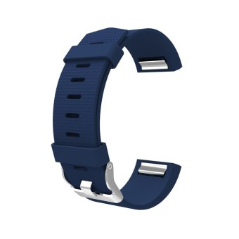Harga Awinner Band for Fitbit Charge 2, Soft Silicone Adjustable Replacement Sport Strap Band for Fitbit Charge2 Heart Rate + Fitness Wristband (Blue)