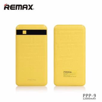 Harga Remax Proda PPP-9 Gentleman Series Power Bank 12000mAh Portable for Various Smart Phones Samsung Apple ( Yellow )