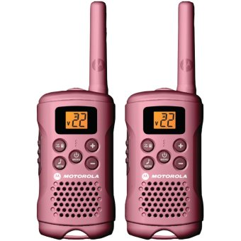 Motorola MG167A 16-Mile Range 22-Channel FRS/GMRS Pair of Two-Way Radio (PINK)