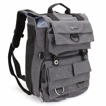 Camera Backpack, Evecase Canvas DSLR Travel Camera Backpack w/Laptop Compartment & Rain Cover -Gray - intl