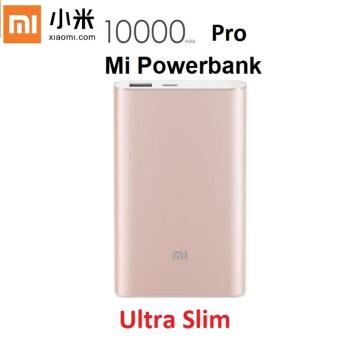 Harga Xiaomi 10000mAh Powerbank Pro External Battery Charger Gold
