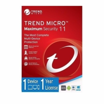 Harga Trend Micro Maximum Security 2017 for for 1 PC 1 Year Subscription