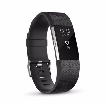 Harga Fitbit Charge 2 Heart Rate + Fitness Wristband (Black Small)