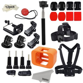 Harga Deyard Accessories for GoPro Hero 5 Session/ Hero Session Mounts Bundle GoPro Camera Floaty Chest Harness Head Strap Monopod Stick Starter Kit