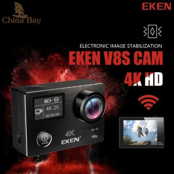 Harga Original Eken V8s Action Camera 4k/25fps Ultra HD with Ambarella A12 chip inside Go waterproof mini cam pro sport Camera EIS - intl