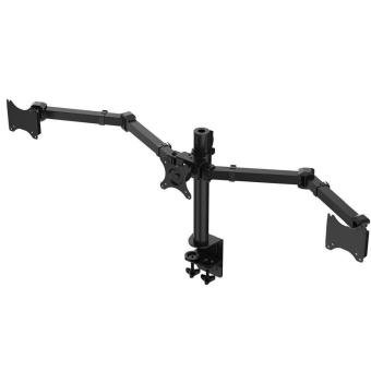 "Harga Triple Monitor Arms Full Motion Desktop Mount Stand Fit for Three LCD Screens 10""-27"" Max Support 10KG Weight Per Arm - intl"