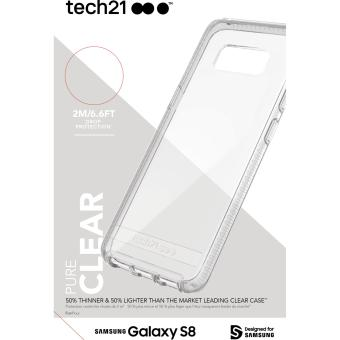 Harga Tech 21 T5583 Pure Clear case for Galaxy S8 - Clear