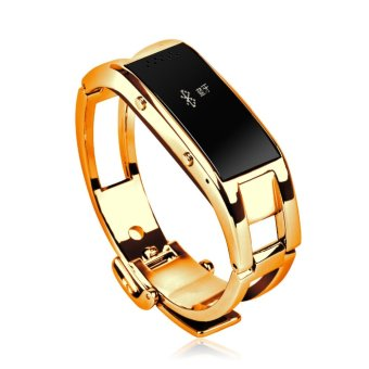 Harga Fashion Bluetooth Smart Watch Man/Woman Watch Full Stainless Steel Wristwatch For iPhone IOS Samsung Android Gold Smartwatch - intl