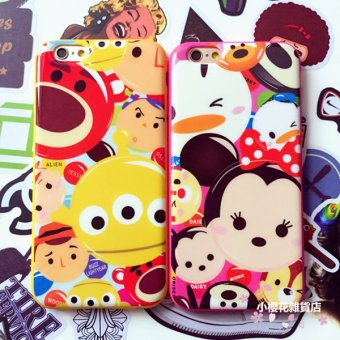 Harga Japan tsum minnie mickey plus cartoon couple phone shell protective sleeve apple iphone6 tpu soft shell