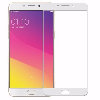 Harga Full Cover Screen Protectors 9H Super Hardness HD Toughened Tempered Glass for OPPO R7S - White - - intl
