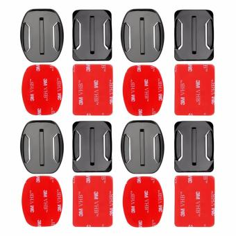 Harga YICOE 4pcs Flat and Curved Base Adhesive Mount 3M VHB Stickers for Go pro 5 4 3 Xiaomi Yi 4k SJCAM SJ4000 EKEN H9 Action Sport Camera Accessories
