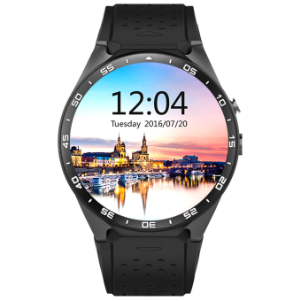 Harga KW88 Android 5.1 OS 3G Smart Watch Phone w/ 512MB RAM, 4GB ROM - Black - intl