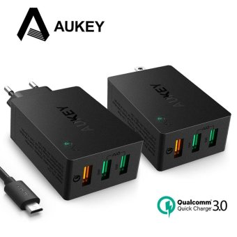 Harga Aukey Qualcomm QC 3.0 AiPower Adaptive Wall Charger USB Hub Charging 3 USB Ports - intl