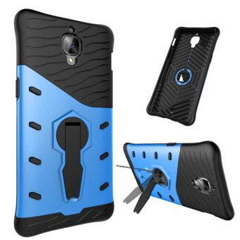 Harga Heavy Duty Shockproof Dual Layer Hybrid Armor Defender Full Body Protective Cover with 360 Degree Rotating Kickstand Case for OnePlus 3 - intl