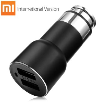 Harga INTERNATIONAL VERSION Original Xiaomi Roidmi 2S Bluetooth V4.2 Car Charger Hands-free Call FM Transmitter 5V 2.4A Output APP Real-time Monitor for iOS / Android - intl