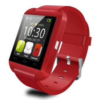 Harga UWATCH U8 Bluetooth Android Smart Mobile Phone Wrist Watch(Red) -
