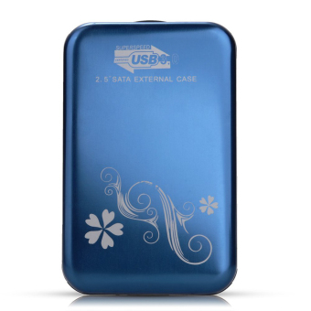 "Harga External Enclosure Case for Hard Drive HDD Usb 3.0 Sata 2.5"" Inch Hdd Portable Case Durable Flower Design"