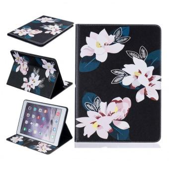 Harga Painting PU Leather Back Case Cover for Apple iPad Air 2(black lily) - intl