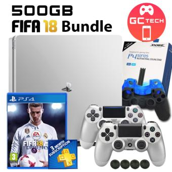 Harga PS4 Slim 500GB FIFA 18 Bundle with additional PS4 Controller(Silver)