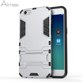 Airress TPU/PC 2in1 Armor Rugged Military Grade Phone Case for Oppo R9s(Silver) - intl