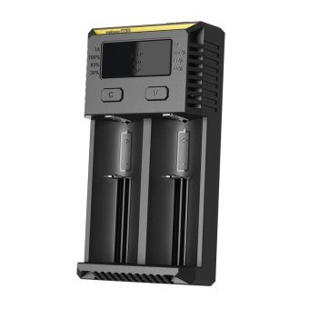 Harga Authentic NITECORE New I2 dual slots 18650 AA AAA Battery Charger